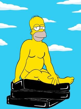 Homer Simpson Naked