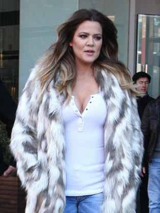 Khloe Kardashian Wears Fake Fur