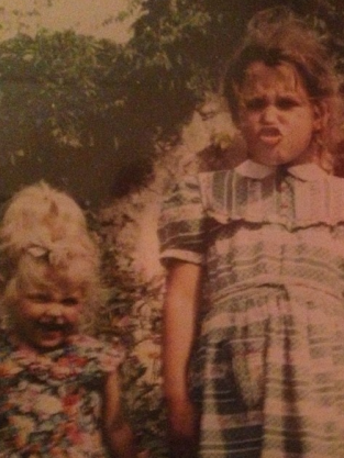 Fifi and Peaches Geldof as Kids