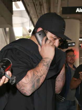 Rob Kardashian at LAX
