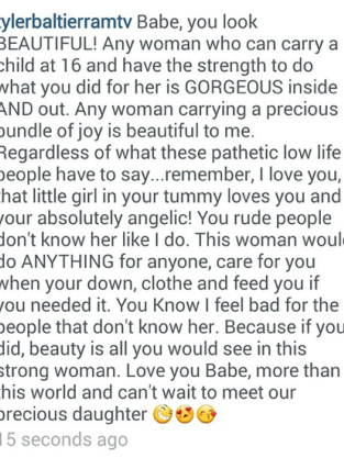 Tyler Baltierra Note to Catelynn Lowell