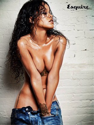 Rihanna: Topless For Esquire