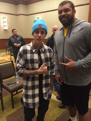 Justin Bieber and Cam Heyward