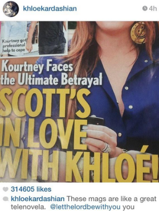 Khloe Instagram to Scott
