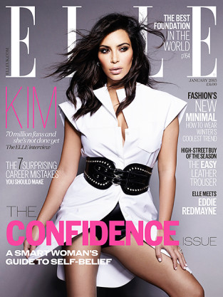 Kim Kardashian Elle UK Cover