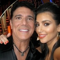 Kim Kardashian and Corky Ballas
