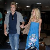 Heidi and Spencer at LAX