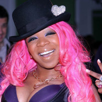 Pink wigging out
