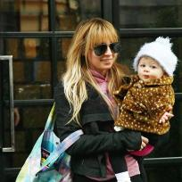 Cute celebrity baby mom duo