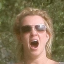 Britney Spears O-Face!