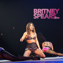 Britney on Knees