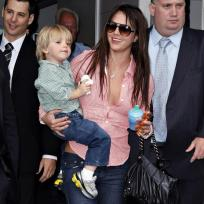 Jayden James Federline with Mom