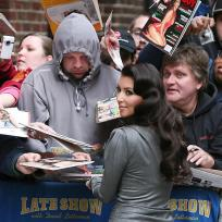 Outside Letterman Studio