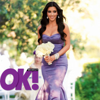 Bridesmaid Kim Kardashian