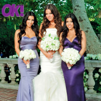 Kourtney khloe kim kardashian wedding pic