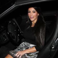 Kim Leaving a Kar