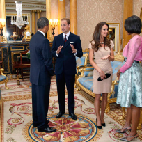 Prince William, Kate Middleton, Barack and Michelle Obama