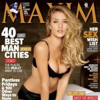 Rosie huntington whiteley on maxim