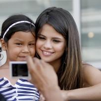 Selena and a Fan