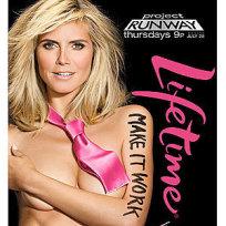 Heidi klum project runway ad