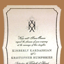 What do you think of the Kim Kardashian wedding invitation?