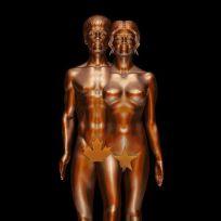 Justin Bieber and Selena Gomez Statue