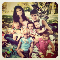 Justin and Selena Family Portrait