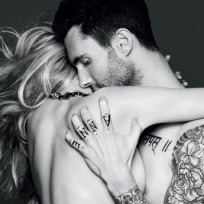 Anne Vyalitsyna and Adam Levine