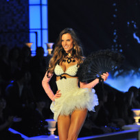 Alessandra ambrosio at the victorias secret fashion show