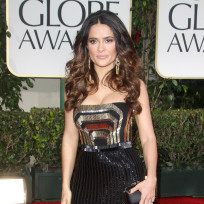 Salma hayek golden globes dress