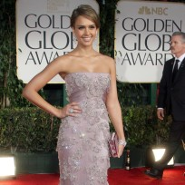 Jessica alba at the golden globes