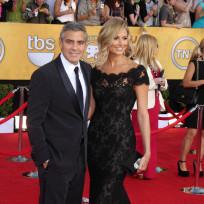 George Clooney and Stacy Keibler SAG Awards Pic