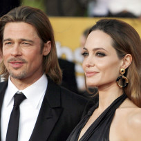 Angelina Jolie, Brad Pitt at the SAG Awards