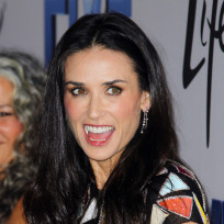 Demi Moore in Soho