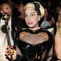 Lady Gaga Fishnet Face