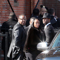 Bobby Brown at Whitney Houston Funeral