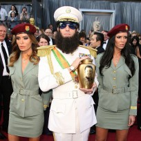 Who looked better at the Oscars, Sacha Baron Cohen or Brad Pitt?
