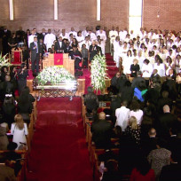Whitney Houston Funeral Scene