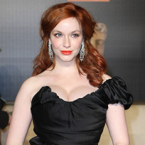 Christina hendricks at the baftas