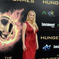 Leven rambin at hunger games premiere