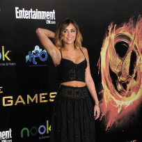 Miley Cyrus at Hunger Games Premiere