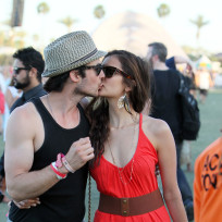 Nina Dobrev and Ian Somerhalder at Coachella