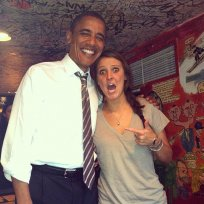 Obama and College Student