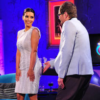 Kim Kardashian and Alan Carr
