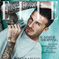 David Beckham Elle UK Cover
