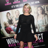 Cameron Diaz long sleeve dress photo