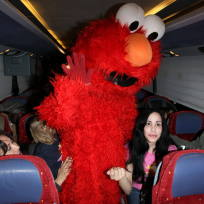 Nadya Suleman and Elmo
