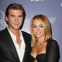 Liam and Miley Photograph