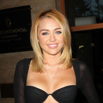 Miley Cyrus Cleavage Dress