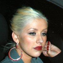 Christina Aguilera Blue Hair
